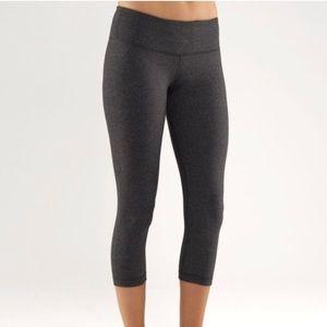 Lululemon wunder under gray cotton leggings